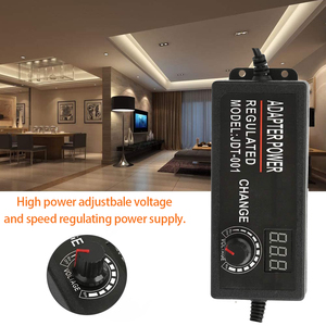 Image 4 - Adjustable AC to DC 3V 12V 3V 24V 9V 24V Universal adapter with display screen voltage Regulated 3V 12V 24V power supply adatper