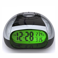 Intelligent Alarm Clock LED Eye Product Night Light 5 Colors Talking Clock Modern Music Watches Livingroom Diaplay
