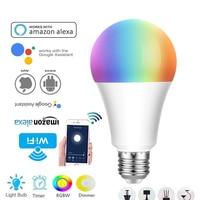 Lâmpada inteligente led e27/b22/e26/e14  com wifi  para android e apple  com controle remoto