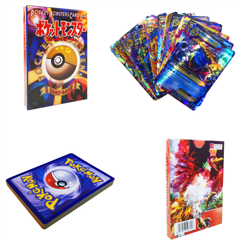Pikachu 20PCS MEGA Shining Cards Game Battle Carte Trading Children Pokemon Card Toy