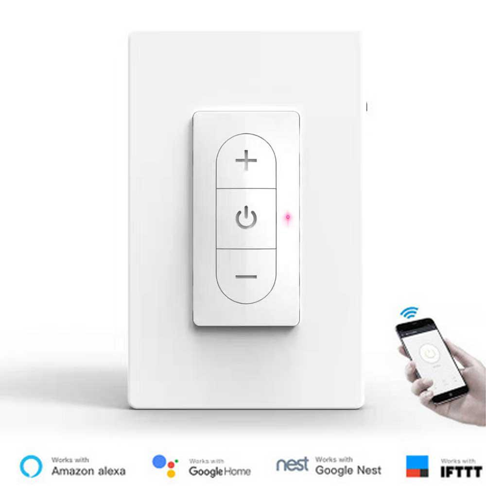 Teekar SDS118-01 Wifi Dimmer Switch US Standard Smart Life Smart Light Switch Remote Control Work With Alexa Google Assistant