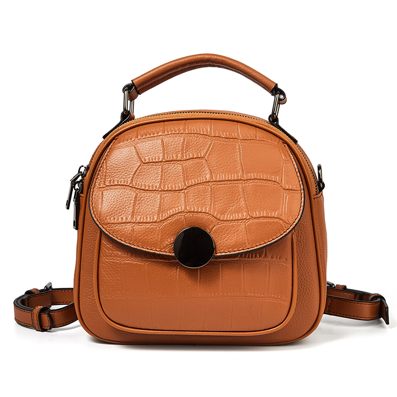 Luxury Fashion Backpack for Women Designer Genuine Leather Ladies Daypack Causal Small Backpacks Female Travel Shoulder