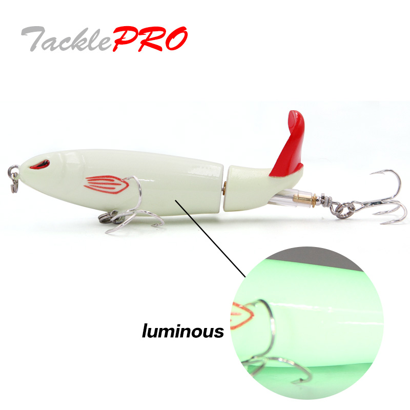 TacklePRO PE20 Whopper plopper  Floating  Fishing Lure Soft Rotating Tail 13g/90mm Hard Bait Topwater Fishing Gear Shone baits