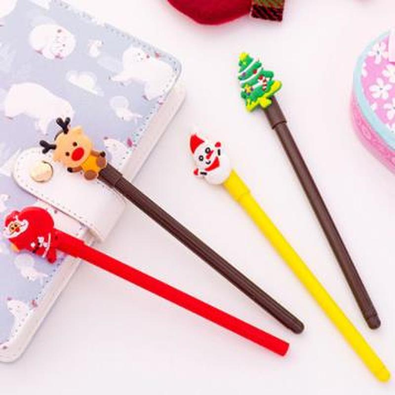 1pcs Santa Claus Gel Pen 0.38mm  Kawaii Pens Novelty Stationery Cute Pen Student Cute Signing Pens Kawaii School Supplies