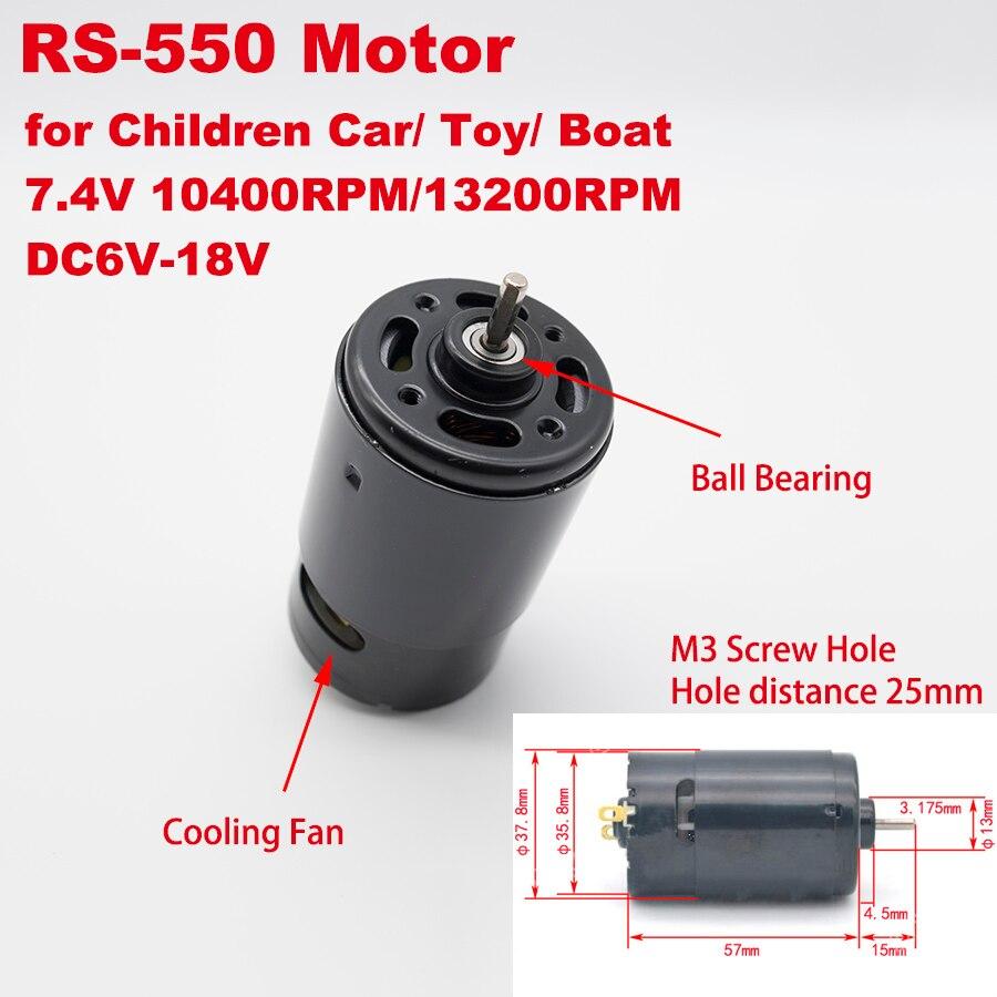Micro Round 36mm RS-550 Electric Motor 3.17mm Shaft DC 6V-18V 12V 7.4V High Speed Power DIY Toy Car Boat Screwdriver