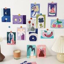 Peinture artistique populaire de dessins animés, carte postale, dessin animé mignon, téléphone portable, compte à main, accessoires de décoration, petite affiche, 15 pouces