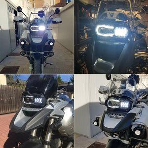 Image 3 - Yeni gelen! Motosiklet LED farlar projektör BMW R1200GS 2004 2012 R 1200GS ADV macera 2005 2013 Moto ışıkları montaj