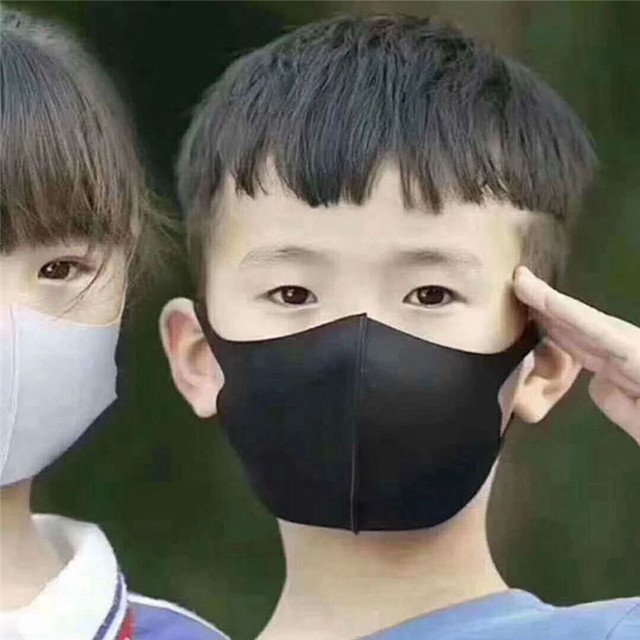 2pcs Multi-Style Kids Solid Kpop Cotton Mouth Mask Anti dust Mouth-muffle Washable Black Mask On Face For Adult Respirator Mask 2