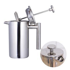 Image 5 - 350/800/1000ML kahve kapları çift katmanlı paslanmaz çelik kahve ve çay makinesi fransız basın ısı koruma kupa