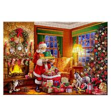 Christmas Jigsaw Puzzle Challenging Training Logic Puzzle Game Decompression Jigsaw Puzzles Christmas Santa Claus Paper Jiasaws