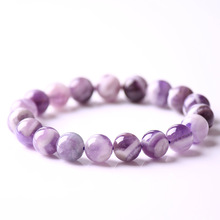 Natural Dream Lace Purple Amethysts Bracelet Natural stone beads bracelet Gift For women men emme homme Purple Gem Stone Beads natural old pit a cargo ice waxy filled with purple violets bracelet burma stone bracelet with certificat