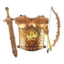 Brand New Children's Plastic Swords Bows Arrows And Armor Shields Warrior Outfits Simulation Cosplay Suit Toys