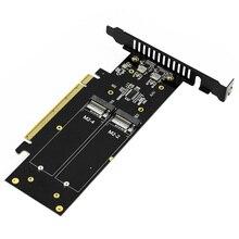 JEYI IHyper M.2 X16 Để 4X PCIE3.0 GEN3 X16 4 * Đột Kích Thẻ PCI E VROC Thẻ Đột Kích Hyper M.2X16 m2X16 4X X4 Đột Kích
