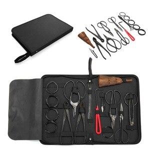 Image 5 - Conjunto de ferramentas de alta qualidade bonsai multi função bonsai kit 14 peças conjunto de tesoura de aço carbono e kit de ferramentas/rolo fios