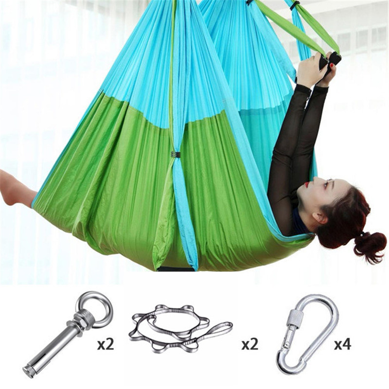 Yoga Flying-Swing Yoga Hammock Fabric Anti-Gravity Aerial Traction Device Yoga Hammock Set Equipment For Pilates Body Shaping