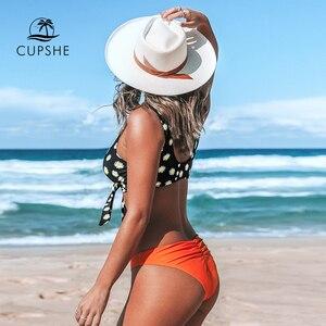 Image 3 - Cupshe Daisy Thắt Nút Cổ Chữ V Bikini Bộ Gợi Cảm Lót Ly Giữa Lưng Đồ Bơi Hai Mảnh Đồ Bơi Nữ 2020 Bãi Biển Tắm phù Hợp Với