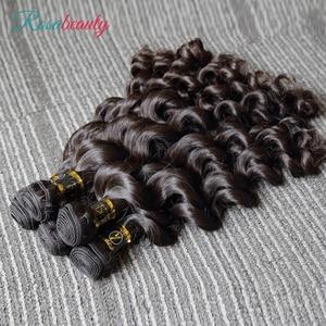 Image 5 - Rosabeauty extensiones de cabello 10A, 3 en oferta de extensiones de cabello Natural, pelo virgen indio suelto, paquete de ondas profundas, 100%, extensión de cabello humano de 10  28 pulgadas