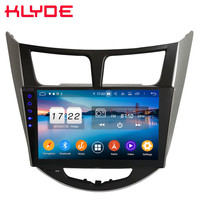Klyde 4G IPS Android 9 Octa Core 4GB RAM 64GB ROM DSP Car DVD Multimedia Player For Hyundai Accent Verna Solaris I25 2011 2017