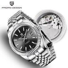 Mens Watches 2019 New Top Luxury Brand PAGANI Design Fashion Automatic Mechanical Steel Watch Men Military Sport Wristwatch+box