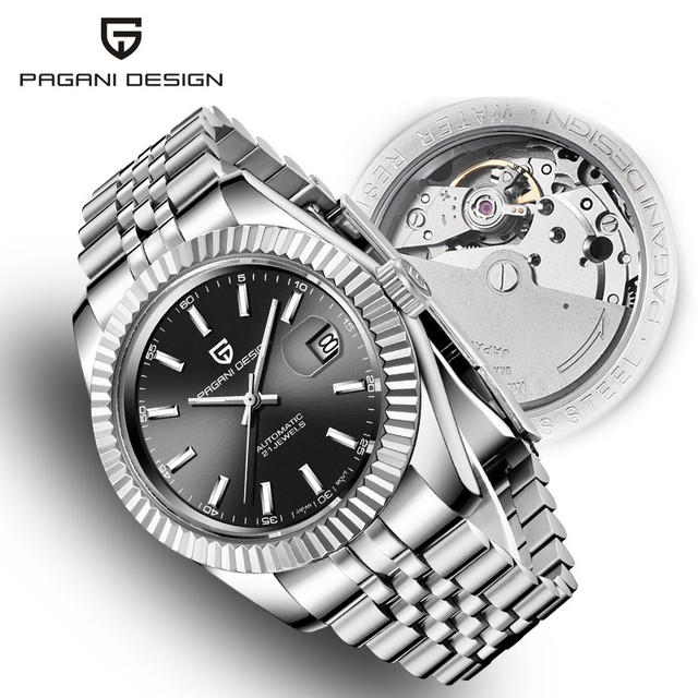 Mens Watches 2019 New Top Luxury Brand PAGANI Design Fashion Automatic Mechanical Steel Watch Men Military Sport Wristwatch+box
