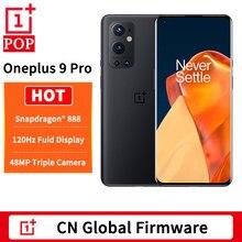 Dhl livre global firmware oneplus 9 pro 5g telefone móvel 6.7 polegada 2k 120hz ltpo amoled snapdragon 888 octa núcleo 65w flash carga