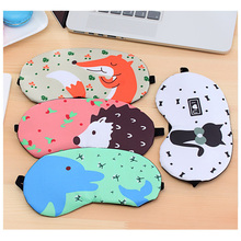 Cartoon Cute Summer Cold Breathable Men and Women Ice Sleep Eye Mask Shade Ice Bag Sleep Eye Mask ice eyeshade sleep mask shading breathable goggles men and women cute expression ice pack eye protective antifaz para dormir