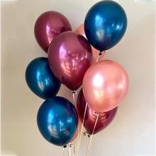 Latex Balloons Wine Birthday-Party-Decorations Baby Shower Metal Globos Wedding 15pcs