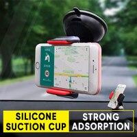 Parabrisas tonto sostenedor del teléfono del coche del Clip de ventilación de aire de montaje del teléfono móvil del soporte del tablero GPS soporte para iPhone Samsung Huawei Xiaomi