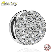 2020 Fashion Jewelry Making Fit Pandora Charms Silver 925 Original Bracelets 925 Sterling Silver Charm Round Clip Beads DIY Gift