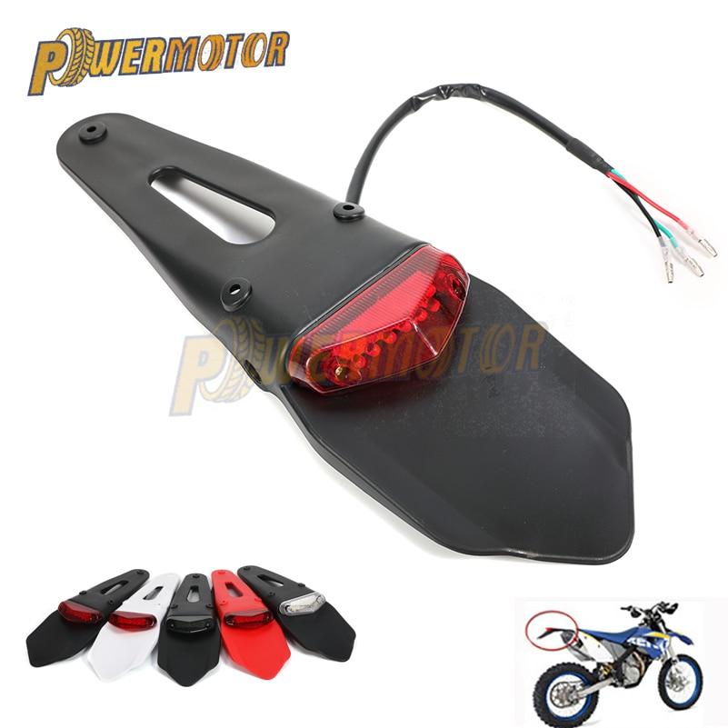 TailLight Motorcycle Dirt Bike Rear Fender Brake Stop 12 LED Tail Light For SUZUKI KTM HUSQVARNA TE250 TE300 RMZ250 RMZ450 DRZ40
