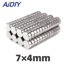 AI DIY 20/30/100Pcs 7x4mm Permanent Neodymium Magnet 7mm x 4mm Small Round Super Strong Powerful Rare Earth Magnets Disc 7*4mm