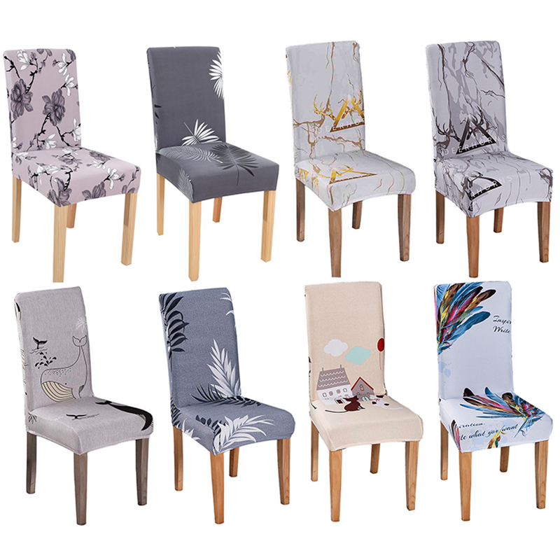 Removable Stretch Dining Chair Covers Wedding Kitchen Stool Slipcover Blue