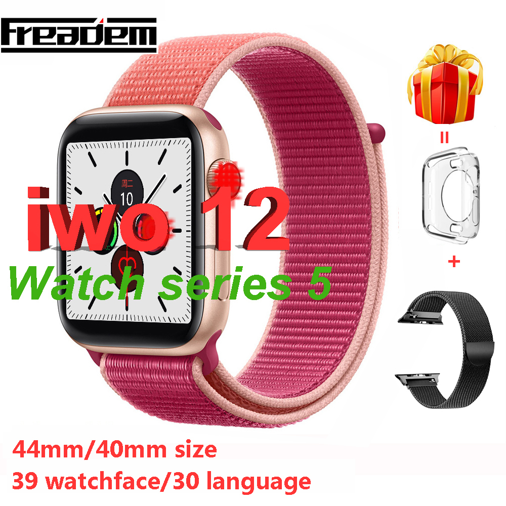 Watch 5 <font><b>IWO</b></font> 12 Bluetooth <font><b>SmartWatch</b></font> Series 5 1:1 Smart Watch 40mm <font><b>44mm</b></font> Case for Apple iOS Android phone Heart Rate PK <font><b>IWO</b></font> 11 9 <font><b>8</b></font> image
