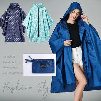 Fashion Dot Lady Poncho Women Outdoor Travel Waterproof Raincoat With Hood For Women Rainwear Girls Long Rain Fashion Jacket JJ
