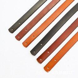 35/45/60cm 100% Genuine Leather Shoulder Bag Strap Belt DIY Replacement Bag Handle Black Brown Handles Handbag Bag Accessories