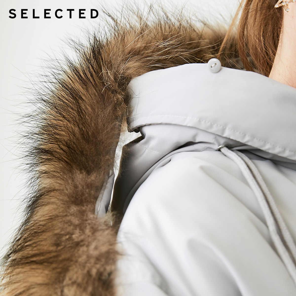 Выбранный Зимний новый женский пуховик на утином пуху с капюшоном, свободный пуховик средней длины S   418412566