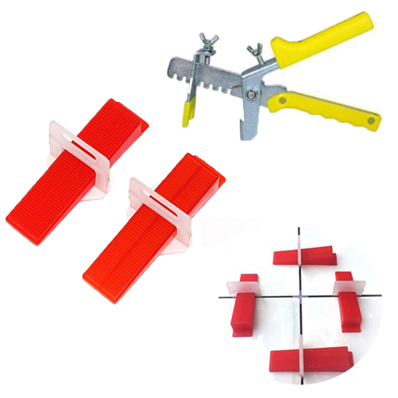 Big deal 401 Tile Leveling System 1.5 mm 300 Clips + 100 Wedges + 1 Piece of Pliers Plastic Paving Tool Tile  Tool Tile Spacer