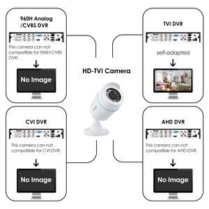 Image 2 - ZOSI 4 PCS Bullet 1080P TVI CCTV וידאו מעקב מצלמה IR Nightvision 2MP videcam אבטחת CCTV כבל מצלמת עבור DVR מערכת