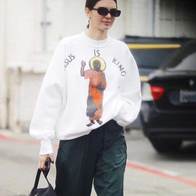 Kanye West Jesus Is King Letters Printed Pullover Sweatshirt  2