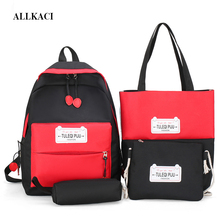 4Pcs/Set School Bags for Teenager Girls Children Book Bagpack Large Capacity Backpacks Kids Travel Bag Collage Satchel 50