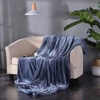 Manta de lana de franela para sofá, manta Extra suave de doble cara, peluda y de felpa, suave y acogedora para adultos y niños