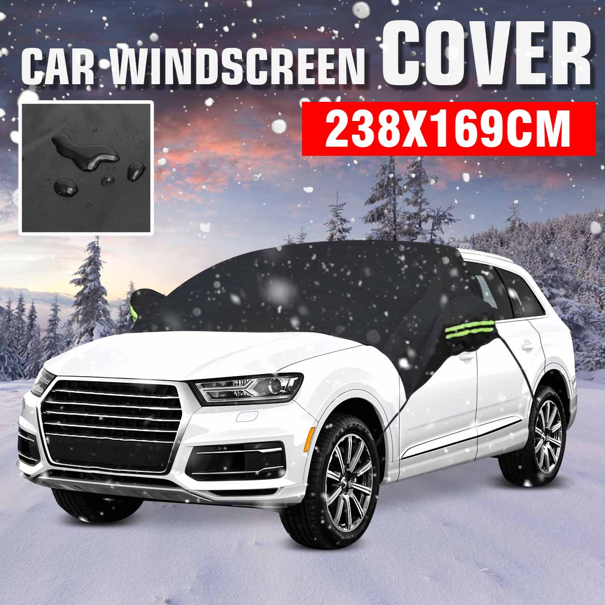 238x169cm Car Windscreen Cover Heat Sun Shade Anti Snow Frost Ice Shield Dust Protector Universal Summer Car Cover