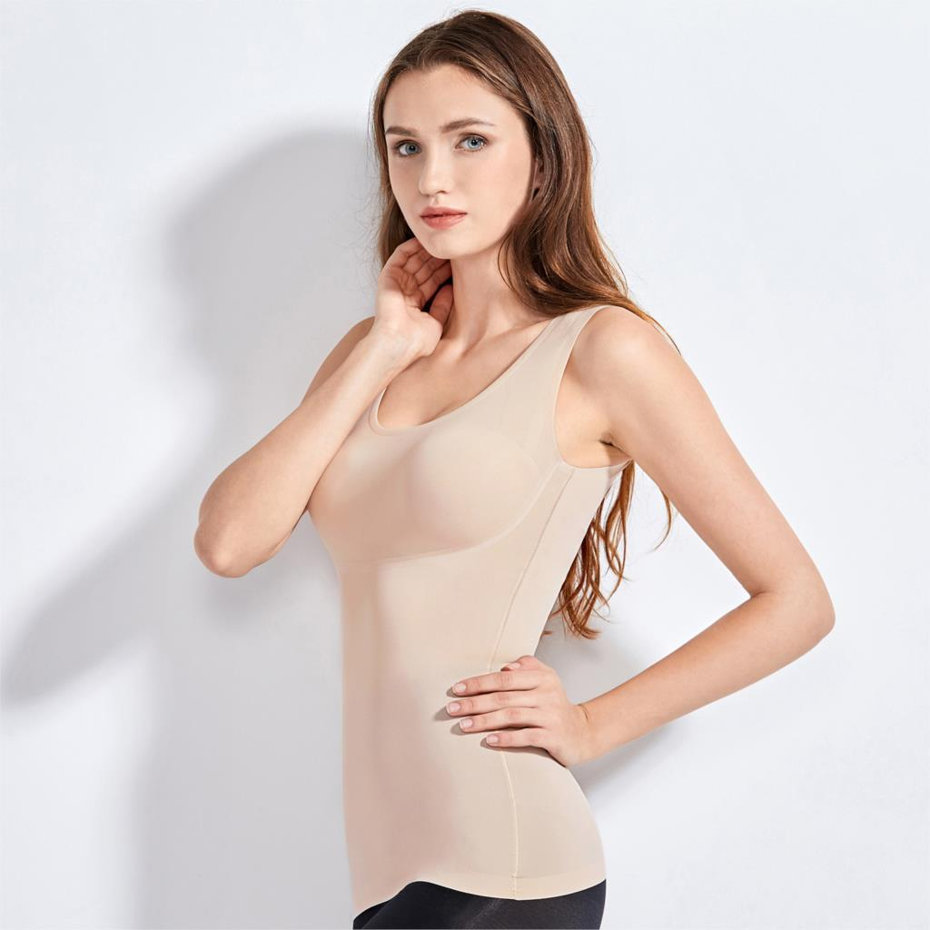 Women's Tummy Control Shapewear Smooth Body Shaping Camisole Tank Tops Plus Size