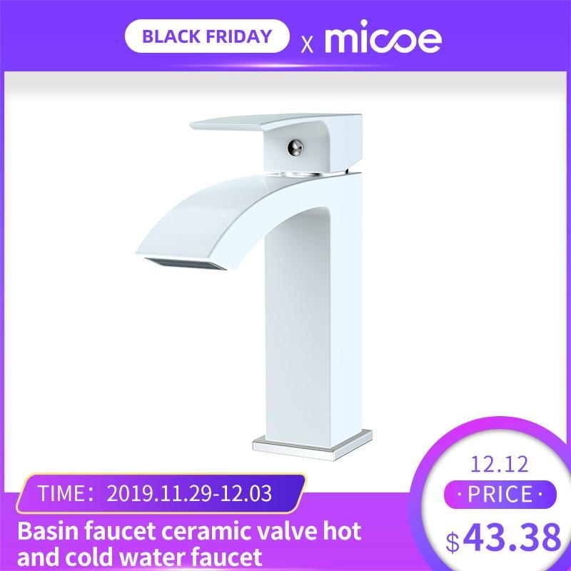 Micoe Basin Faucet Bathroom Single Hole Bathtub Faucet Ceramic Valve Hot And Cold Faucet