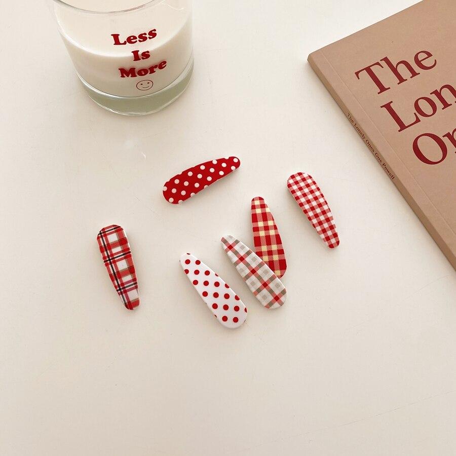 6 шт вишнево-красный; Симпатичные ботинки с красными, узором в горошек и аппликацией в виде Проверено заколка для волос заколка для галстука ...