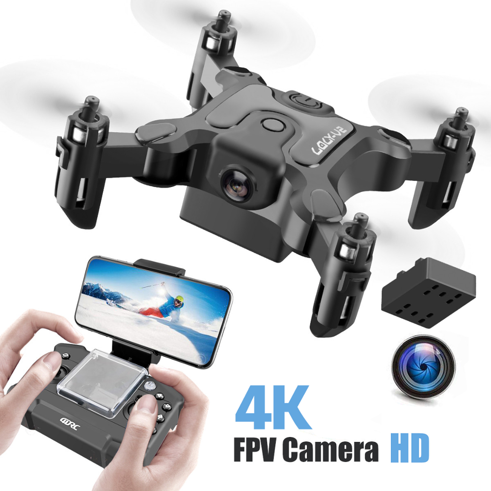 4K Mini Drone With Without HD Camera Height Hold Mode RC Quadcopter RTF WiFi FPV Quadcopter Dron Follow Me RC Helicopter for Kid