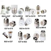 Lamba tutucu B22 E27 To GU10 G9 E14 MR16 ışık soketi adaptörü dönüştürücü baz soket 0 240V 60W q40