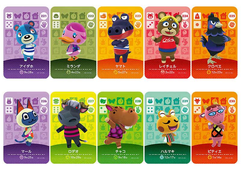 Nowa angielska wersja karty Amiibo seria gier NS 3 (201 do 240) Animal Crossing Card Work for