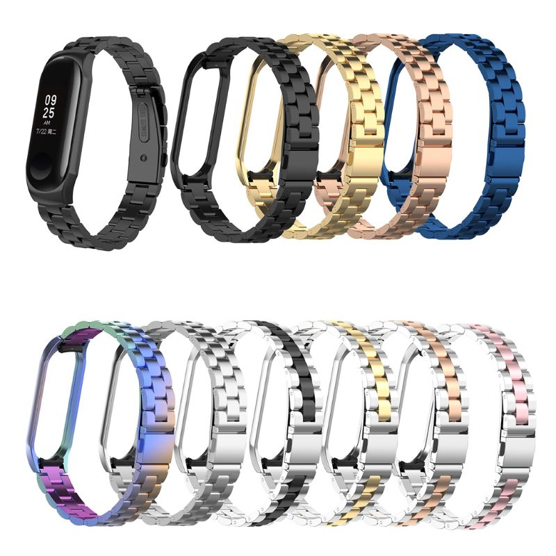 For Mi Band 4 Replacement Metal Strap Wristband Stainless Steel Bracelet