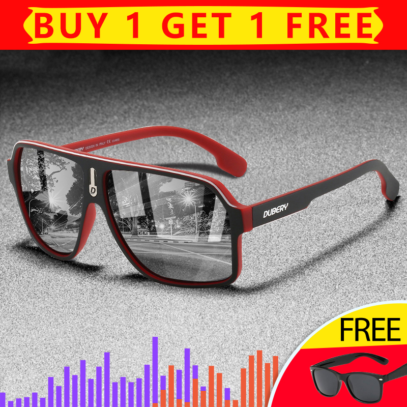 DUBERY 2020 High Fashion Men Polarized Sunglasses PC Frame TAC Mirror Colorful Polarization Sun Glasses UV400 Outdoor Goggles D4|Men